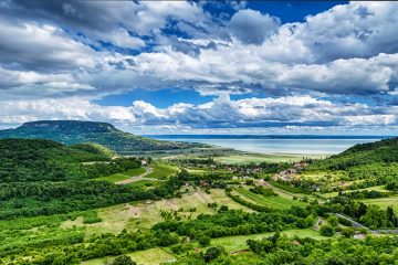 Badacsony Hill with the Lake Balaton, Hungary