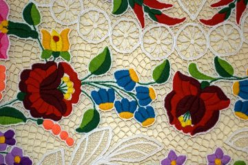 Hungarian Kalocsa embroidery